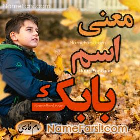 Babak name meaning
