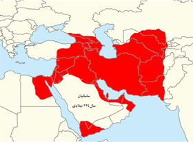 نقشه ایران دوره هخامنشیان