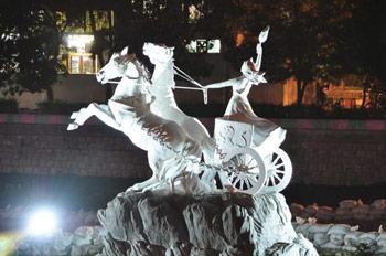 Anahita statue