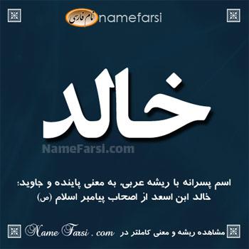 معنی خالد