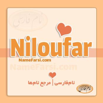 Niloufar name English